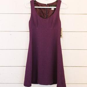 Nicole Miller Short Purple Dress